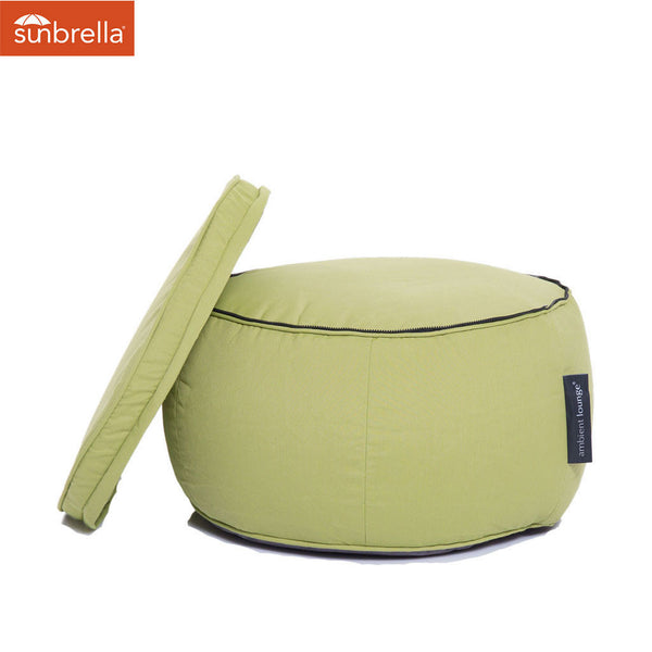 lime green wing ottoman Sunbrella fabric bean bag by Ambient Lounge