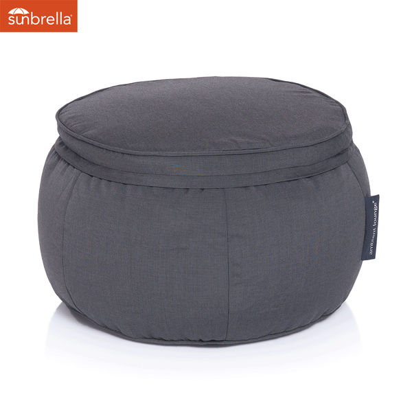 black wing ottoman Sunbrella fabric bean bag by Ambient Lounge