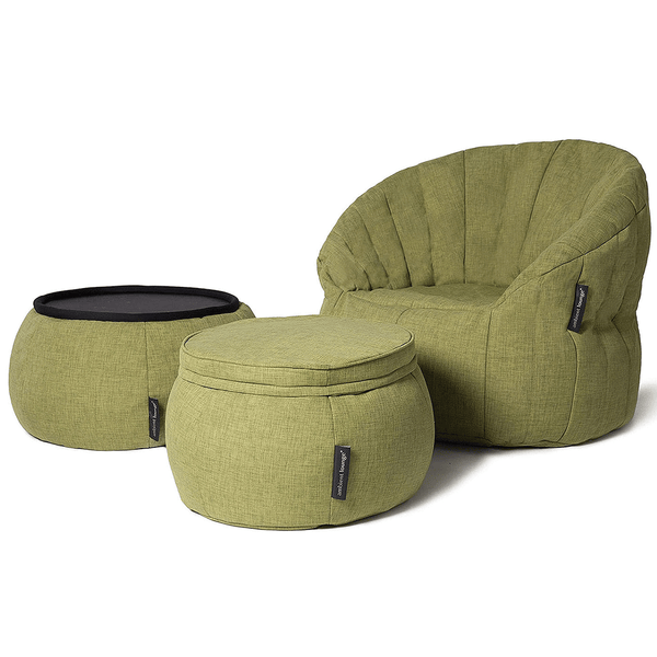 green designer sofa set bean bag by Ambient Lounge