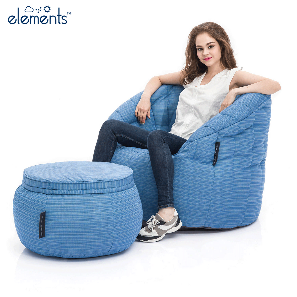 Outdoor Bean Bags | Wing Ottoman - Oceana | Bean Bag Sofa | Ambient ...