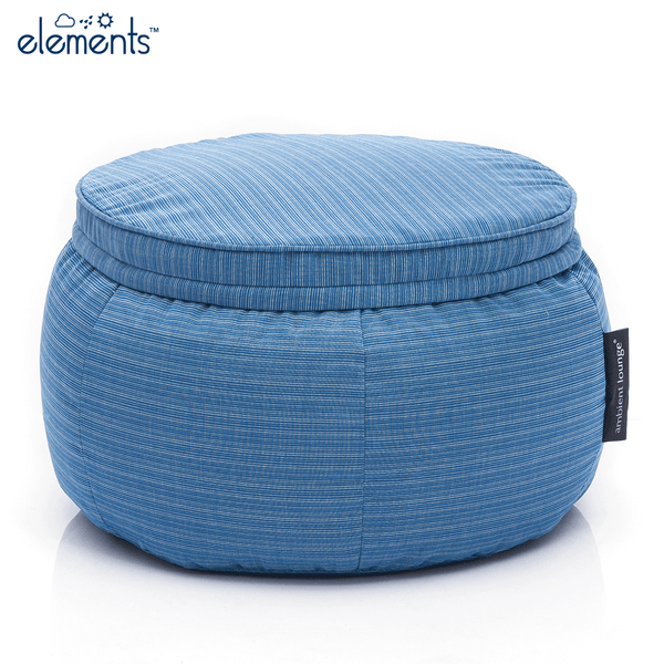 blue wing ottoman bean bag by Ambient Lounge