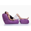purple ottoman bean bag by Ambient Lounge