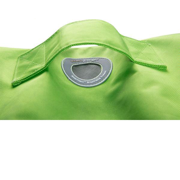 lime green ottoman bean bag by Ambient lounge
