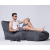 black ottoman bean bag by Ambient Lounge