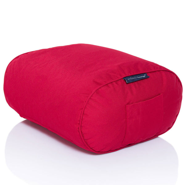 red ottoman bean bag by Ambient Lounge
