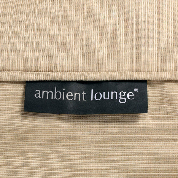 cream versa table Sunbrella fabric bean bag by Ambient Lounge