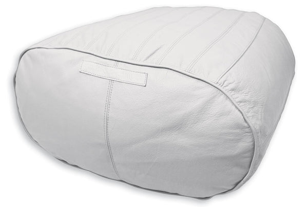 Outlet Fiorenze Ottoman Only Santorini White Genuine Leather