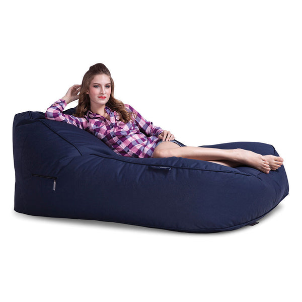 navy blue satellite twin bean bag by Ambient Lounge