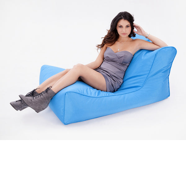 blue studio lounger bean bag by Ambient Lounge