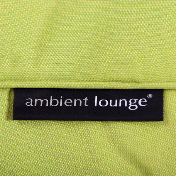lime green versa table Sunbrella fabric bean bag by Ambient Lounge