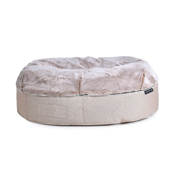 (XXL) Premium Indoor/Outdoor Pet Bed (Cappuccino)