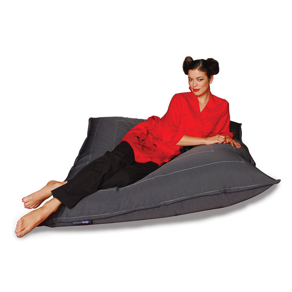 black zen lounger bean bag by Ambient Lounge