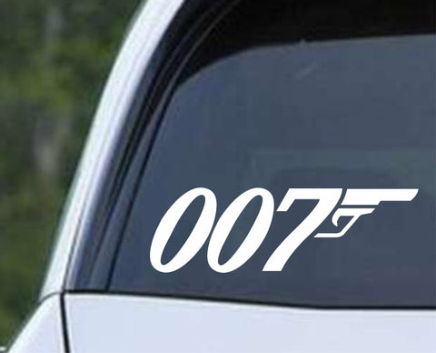 007 James Bond Spy Logo Die Cut Vinyl Decal Sticker - Decals City
