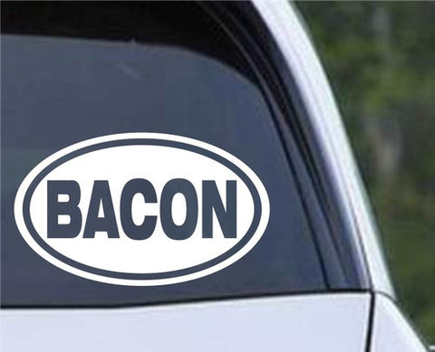 Bacon Euro Oval Die Cut Vinyl Decal Sticker - Decals City