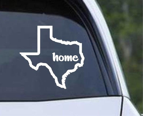 Texas State Outline Home Die Cut Vinyl Decal Sticker - Decals City