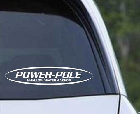 Power-Pole Boat Anchor Die Cut Vinyl Decal Sticker - Decals City