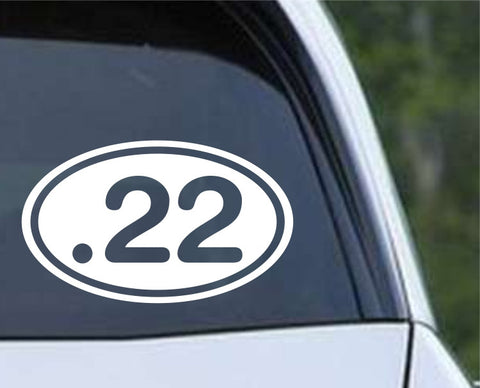 .22 Bullet Ammo Rifle Euro Oval Die Cut Vinyl Decal Sticker