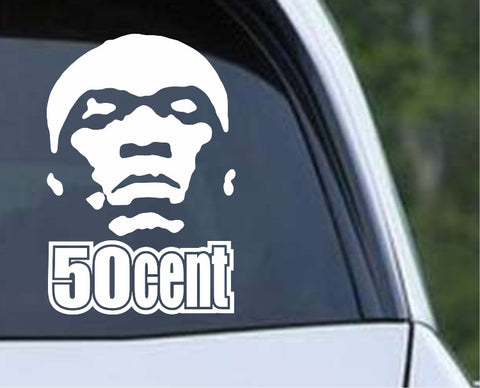 50 Cent Die Cut Vinyl Decal Sticker