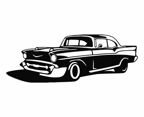57 Chevy Die Cut Vinyl Decal Sticker - Decals City