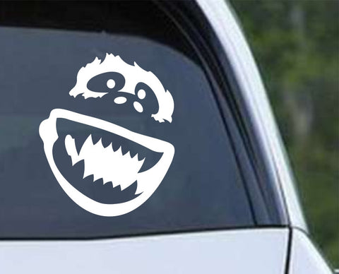 Abominable Snowman Yeti (02) Face Die Cut Vinyl Decal Sticker - Decals City
