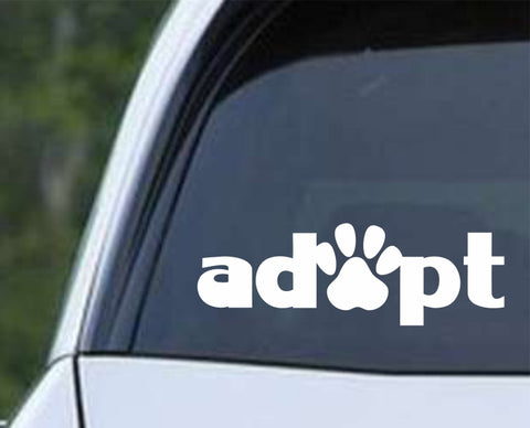 Adopt Paw Print v2 Die Cut Vinyl Decal Sticker - Decals City