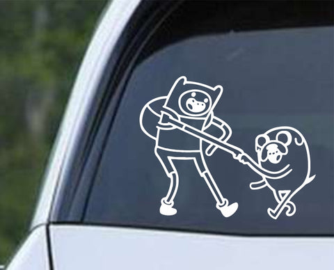 Adventure Time - Finn and Jake v2 Die Cut Vinyl Decal Sticker