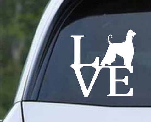 Afghan Hound Dog Love Die Cut Vinyl Decal Sticker