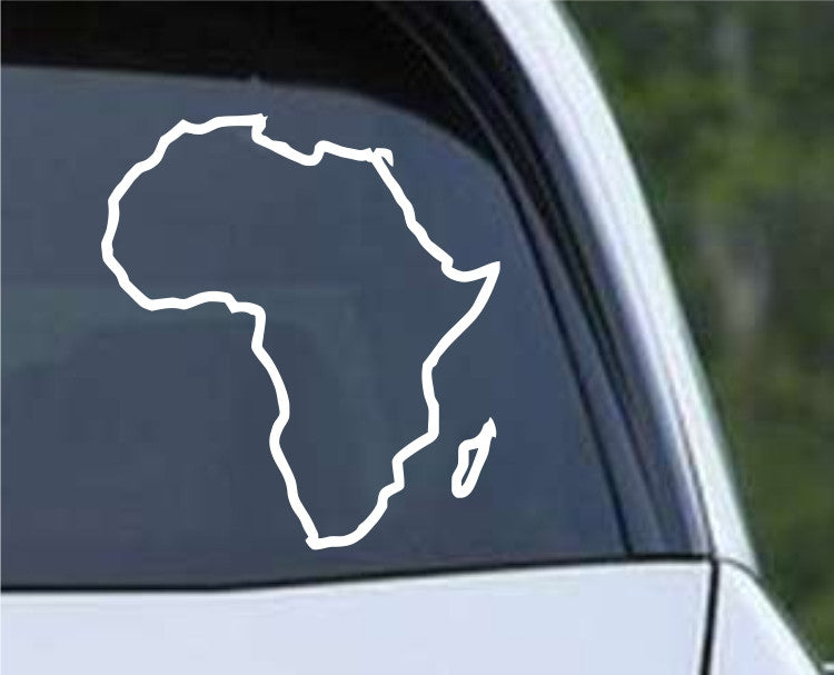 Africa Country Outline Die Cut Vinyl Decal Sticker - Decals City