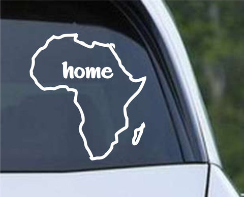 Africa Home Country Outline Die Cut Vinyl Decal Sticker - Decals City