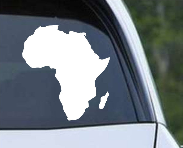 Africa Country Solid Die Cut Vinyl Decal Sticker - Decals City