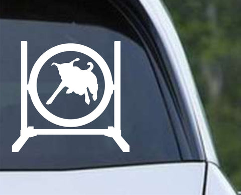 Agility Dog v2 Die Cut Vinyl Decal Sticker - Decals City