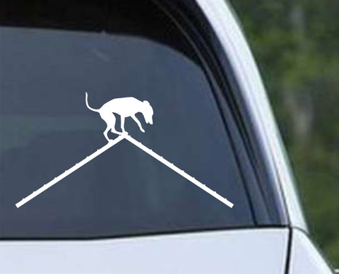 Agility Dog v3 Die Cut Vinyl Decal Sticker - Decals City