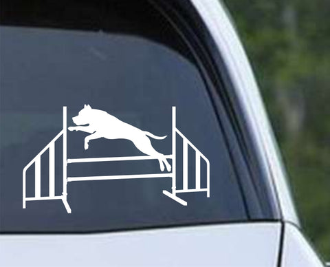 Agility Dog v4 Die Cut Vinyl Decal Sticker - Decals City