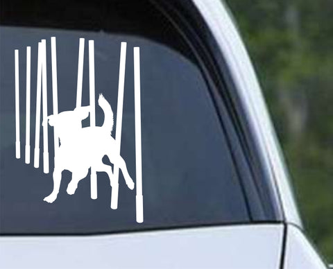 Agility Dog v6 Die Cut Vinyl Decal Sticker - Decals City