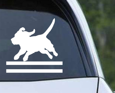 Agility Dog v7 Die Cut Vinyl Decal Sticker - Decals City