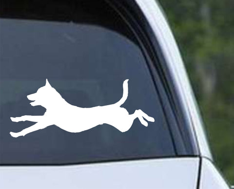 Agility Dog v8 Die Cut Vinyl Decal Sticker - Decals City