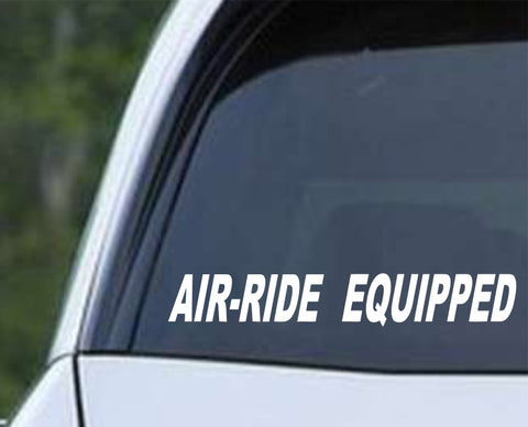 Air-Ride Equipped Tractor Trailer Truck Big Rid 18 Wheel Die Cut Vinyl Decal Sticker - Decals City