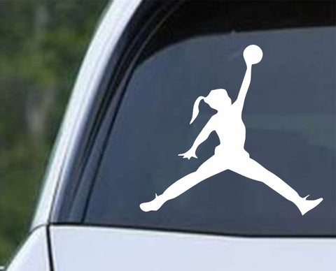 Air Jordan Girl Basketball Die Cut Vinyl Decal Sticker - Decals City