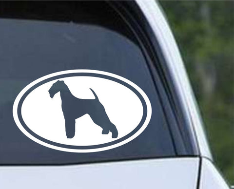 Airedale Terrier Dog (06) Euro Die Cut Vinyl Decal Sticker - Decals City
