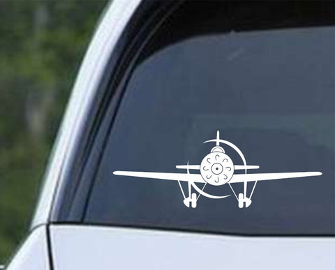 Airplane - Front Facing Profile Die Cut Vinyl Decal Sticker - Decals City