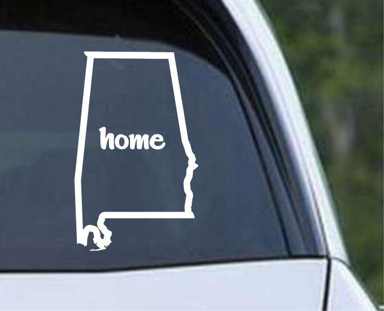 Alabama Home State Outline AL Yellowhammer Die Cut Vinyl Decal Sticker - Decals City
