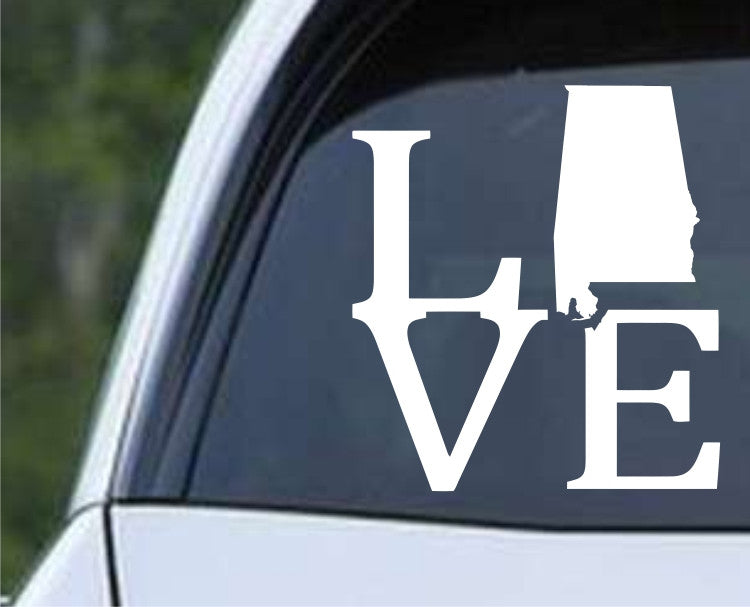 Alabama Love State AL Yellowhammer Die Cut Vinyl Decal Sticker - Decals City