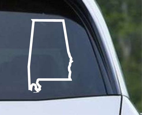 Alabama State Outline AL Yellowhammer Die Cut Vinyl Decal Sticker - Decals City