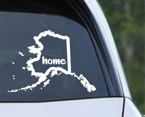 Alaska State Home Outline AK - USA America Die Cut Vinyl Decal Sticker - Decals City