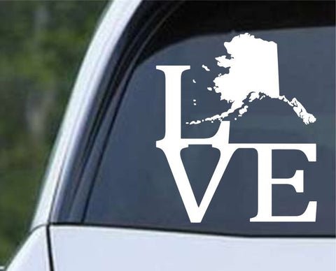 Alaska State Love AK - USA America Die Cut Vinyl Decal Sticker - Decals City