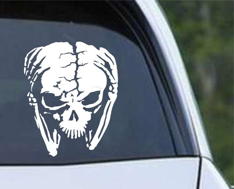 Alien Skull Die Cut Vinyl Decal Sticker - Decals City