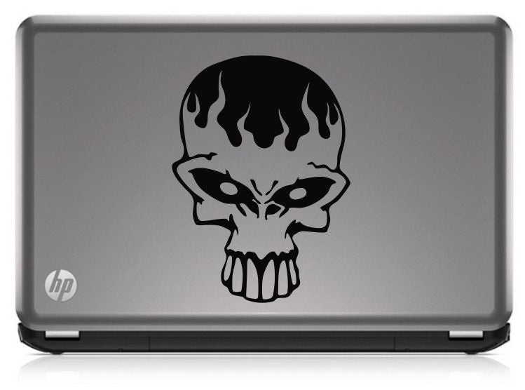 Alien Skull (ver b) Die Cut Vinyl Decal Sticker - Decals City