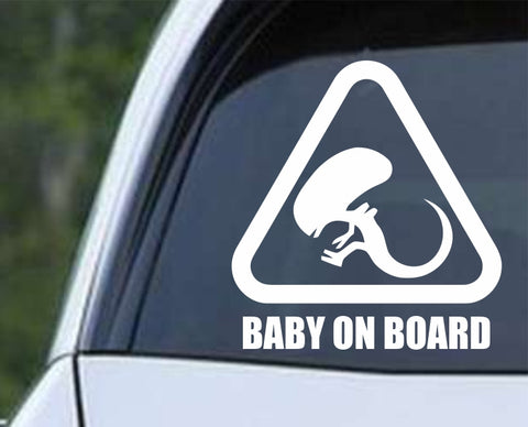 Aliens Xenomorph - Baby on Board Funny Die Cut Vinyl Decal Sticker - Decals City