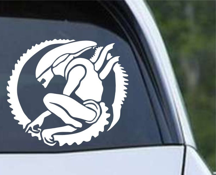 Aliens xenomorph ver d die cut vinyl decal sticker