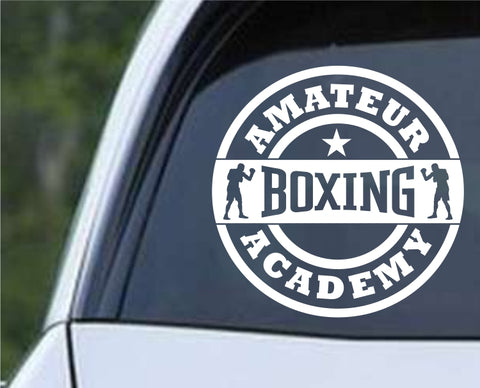 Amateur Boxing Academy Die Cut Vinyl Decal Sticker - Decals City